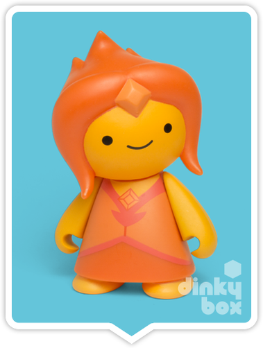 Kidrobot Adventure Time, blind boxed and open choice mini figures available to purchase in the UK. Here we have the adorable FLAME PRINCESS character ready to post from our hands to your UK home – comes complete with all original packaging.