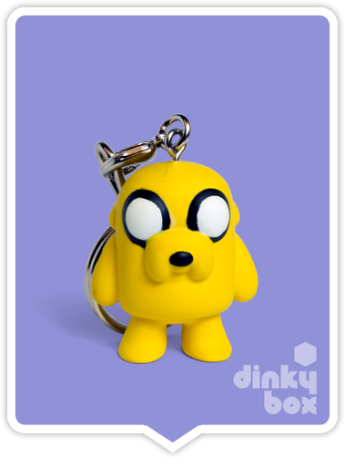 Kidrobot Adventure Time, blind boxed and open choice keychains available to purchase in the UK. Here we have the adorable JAKE character. Normally sold as a blind boxed Kidrobot Adventure Time Keychain.