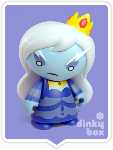 Kidrobot Adventure Time, blind boxed and open choice mini figures available to purchase in the UK. Here we have the stern looking Ice Qeen character ready to post from our hands to your UK home – comes complete with all original packaging.