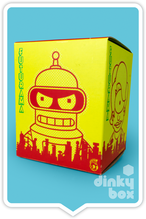"OPEN BOX Kidrobot Futurama : 3"" Morbo mini figure 1/16 (complete with all original packaging) - moosedinky"