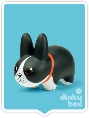 "OPEN BOX Kidrobot Kibbles 'N Labbit : 2.5"" Boston Terrier mini figure 1/20 (complete with all original packaging) - moosedinky"