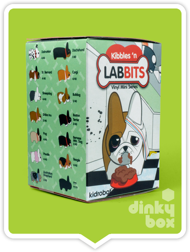 "OPEN BOX Kidrobot Kibbles 'N Labbit : 2.5"" Bulldog mini figure 1/20 (complete with all original packaging) - moosedinky"
