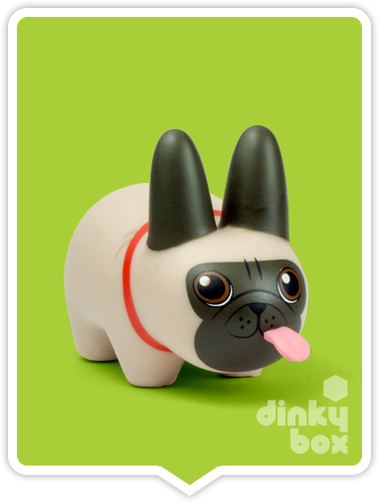 "OPEN BOX Kidrobot Kibbles 'N Labbit : 2.5"" Pug mini figure 2/20 (complete with all original packaging) - moosedinky"