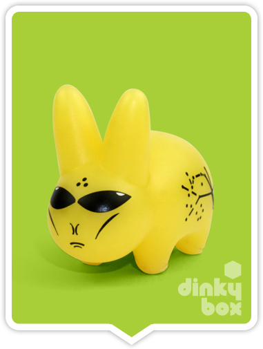 Kidrobot x Frank Kozik Lore of the Labbit mystery GID Alien available to buy in the UK from dinkybox