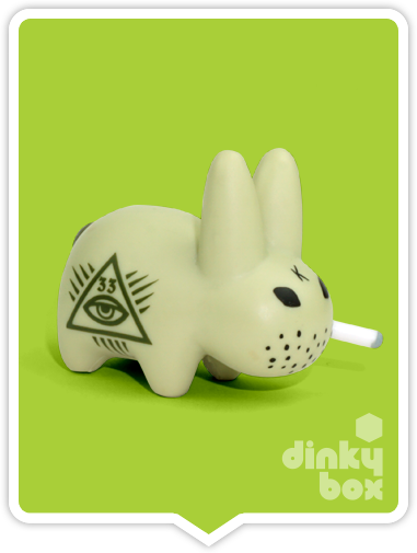 Kidrobot x Frank Kozik Lore of teh Labbit Illuminati available to buy in the UK from dinkybox