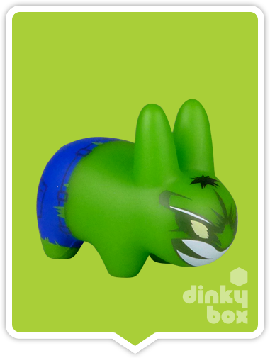 "Kidrobot x Frank Kozik Marvel S2 Labbit: 2.5"" Hulk 2/20 (Open Box) 15yrs+"