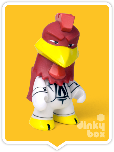 "OPEN BOX Kidrobot Looney Tunes : 3"" Foghorn Leghorn mini figure 2/20 (complete with all original packaging) - moosedinky"
