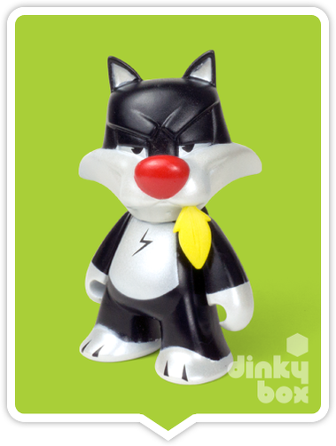 "OPEN BOX Kidrobot Looney Tunes : 3"" Sylvester mini figure 1/20 (complete with all original packaging - moosedinky"