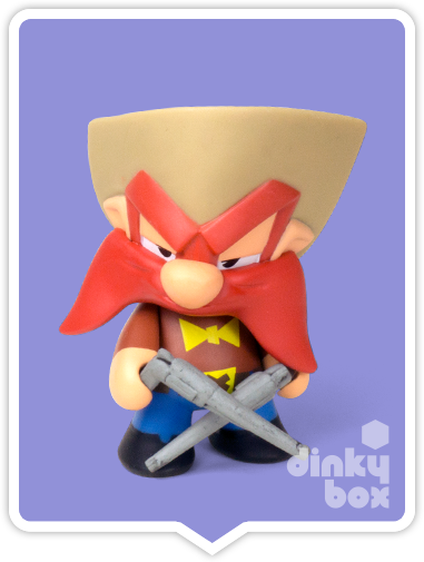 "OPEN BOX Kidrobot Looney Tunes : 3"" Yosemite Sam mini figure 2/20 (complete with all original packaging) - moosedinky"