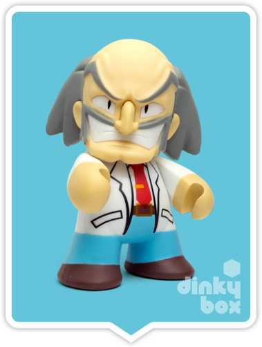 "OPEN BOX Capcom x Kidrobot Rockman / Mega Man : 3"" Dr. Wily mini figure 1/20 (complete with all original packaging) - moosedinky"