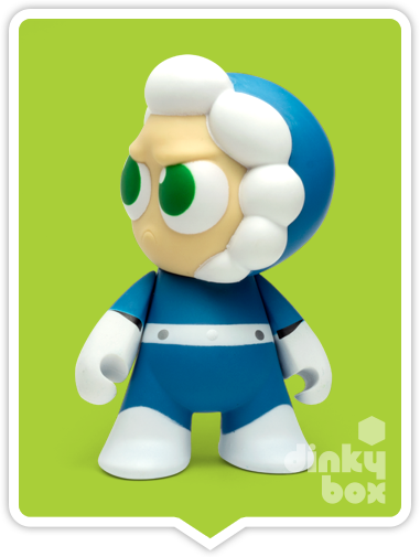 "OPEN BOX Capcom x Kidrobot Rockman / Mega Man : 3"" Ice Man mini figure 2/20 (complete with all original packaging) - moosedinky"