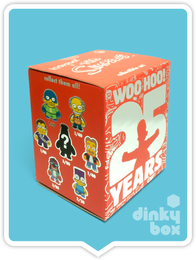 "OPEN BOX Kidrobot The Simpsons Woo Hoo! 25th Anniversary : 3"" Mr Sparkle Red & White CHASE mini figure ?/?? (complete with all original packaging) + FREE POSTAGE - moosedinky"