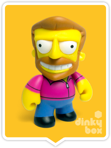 "OPEN BOX Kidrobot The Simpsons Woo Hoo! 25th Anniversary : 3"" Hank Scorpio mini figure 3/40 (complete with all original packaging) - moosedinky"