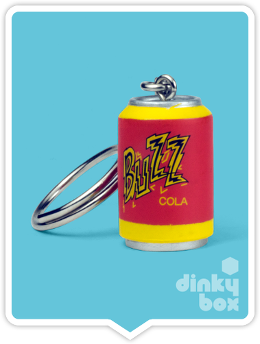 "OPEN BOX Kidrobot The Simpsons Woo Hoo! 25th Anniversary : 1"" Buzz Can keychain (complete with all original packaging) - moosedinky"