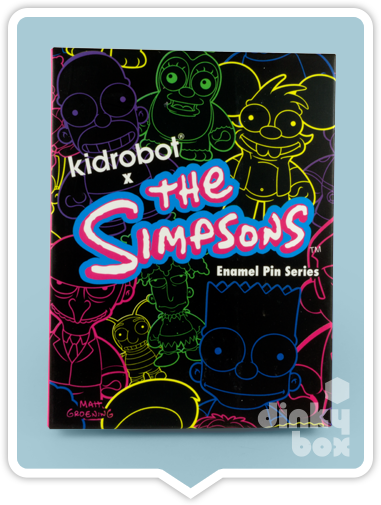 "BLIND PACKAGE : Kidrobot The Simpsons Enamel Pin Series 1"" Collectable Pin -Just who will arrive at your UK home? 15yrs+ - dinkybox"