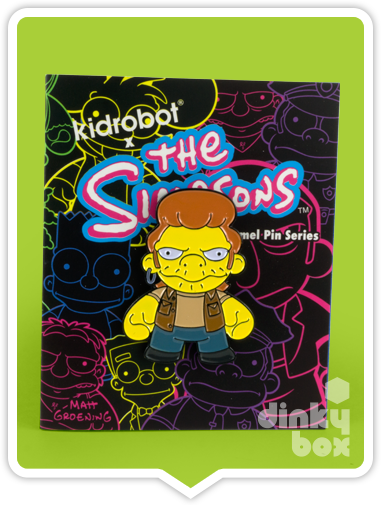 "OPEN PACKAGE Kidrobot The Simpsons Enamel Pin Series : 1"" Snake Pin 3/40 (complete with all original packaging) - moosedinky"