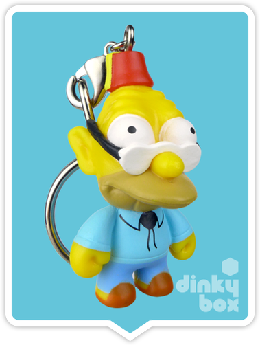 "OPEN BOX Kidrobot The Simpsons S1 : 1"" Grandpa keychain (complete with all original packaging) - moosedinky"