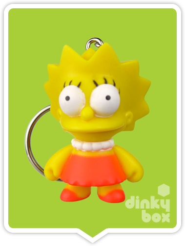 "OPEN BOX Kidrobot The Simpsons S1 : 1"" Lisa keychain (complete with all original packaging) - moosedinky"