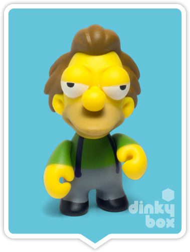 "OPEN BOX Kidrobot The Simpsons S2 : 3"" Lenny mini figure 1/20 (complete with all original packaging) - moosedinky"