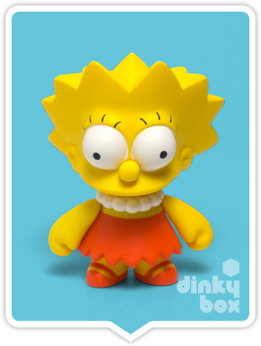 "OPEN BOX Kidrobot The Simpsons S1 : 3"" Lisa mini figure 2/24 (complete with all original packaging) - moosedinky"