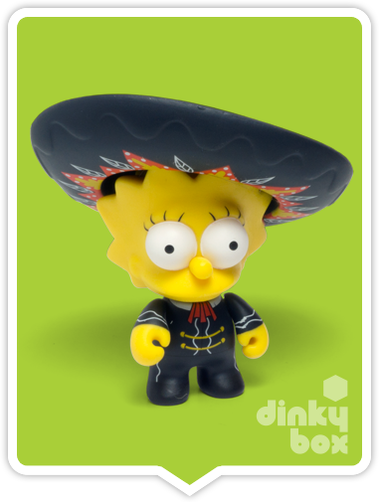 "OPEN BOX Kidrobot The Simpsons S2 : 3"" Mariachi Lisa mini figure 1/20 (complete with all original packaging) - moosedinky"