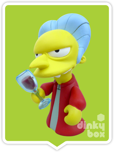 "OPEN BOX Kidrobot The Simpsons Treehouse of Horror : 3"" Dracular Burns CHASE mini figure 1/40 (complete with all original packaging) + FREE POSTAGE - moosedinky"