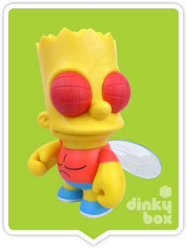 "OPEN BOX Kidrobot The Simpsons Treehouse of Horror : 3"" Bart Fly mini figure 2/20 (complete with all original packaging) - moosedinky"