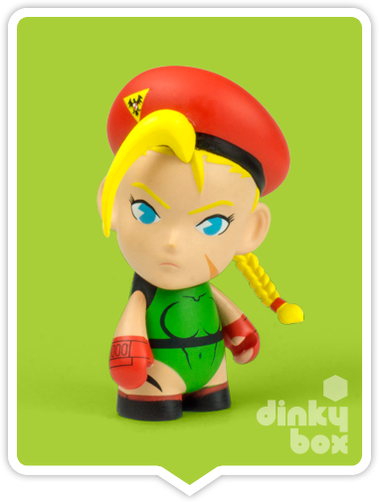 "OPEN BOX Kidrobot Street Fighter S3 : 3"" Cammy mini figure 2/20 (complete with all original packaging) - moosedinky"