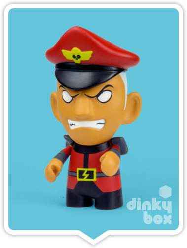 "OPEN BOX Kidrobot Street Fighter S3 : 3"" M.Bison mini figure 1/20 (complete with all original packaging) - moosedinky"
