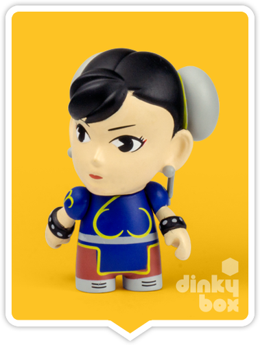 "OPEN BOX Kidrobot Street Fighter S3 : 3"" Chun-Li mini figure 1/20 (complete with all original packaging) - moosedinky"