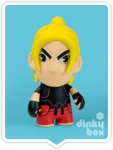 "OPEN BOX Kidrobot Street Fighter S3 : 3"" Ken mini figure 2/20 (complete with all original packaging) - moosedinky"