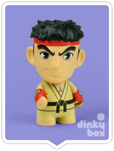 "OPEN BOX Kidrobot Street Fighter S3 : 3"" Ryu mini figure 2/20 (complete with all original packaging) - moosedinky"