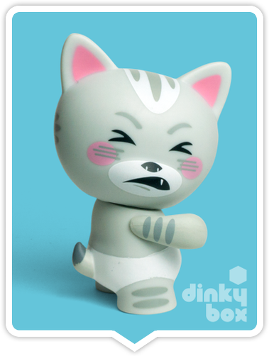 "OPEN BOX Kidrobot Rambunctious Tricky Cats : 3"" Cranky Tricky mini figure 2/20 (complete with all original packaging) - moosedinky"