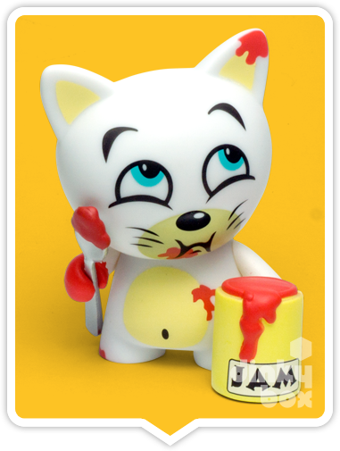 "OPEN BOX Kidrobot Rambunctious Tricky Cats : 3"" Dreams of Murder Tricky mini figure 1/20 (complete with all original packaging) - moosedinky"