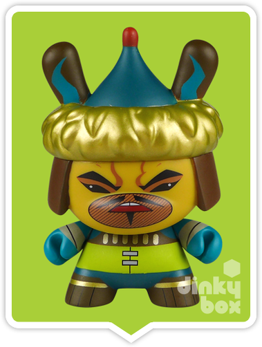 "OPEN BOX Kidrobot kaNO Art of War Dunny : 3"" Genghis kahNOmini figure 2/20 (complete with all original packaging) - dinkybox"