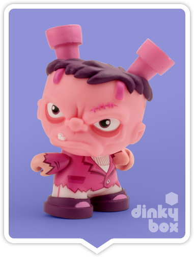 "OPEN BOX Kidrobot Scott Tolleson The Odd Ones Dunny : 3"" Francis (Pink) CHASE mini figure 1/80 (complete with all original packaging) + FREE POSTAGE - dinkybox"