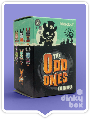"OPEN BOX Kidrobot Scott Tolleson The Odd Ones Dunny : 3"" Almost Invisible Man mini figure 3/40 (complete with all original packaging) - dinkybox"