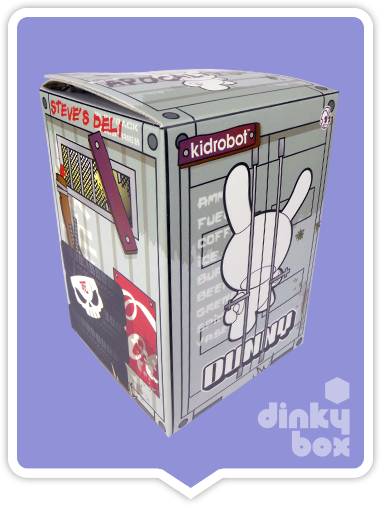 "OPEN BOX Kidrobot Huck Gee Post Apocalypse Dunny : 3"" Gold UTMC Heavy Trooper mini figure 1/16 (complete with all original packaging) - moosedinky"