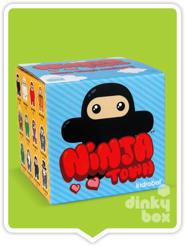 "OPEN BOX Kidrobot Shawnimals Ninjatown : 2"" Lava Fire Red Ninja mini figure 1/25 (complete with all original packaging) - moosedinky"