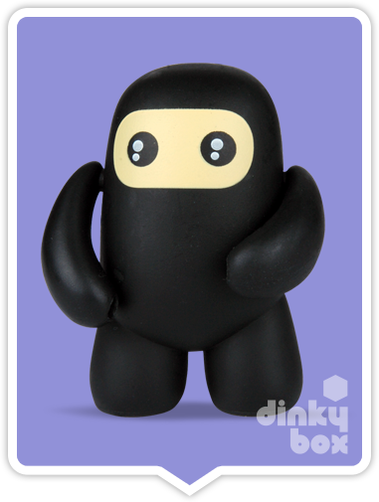 "OPEN BOX Kidrobot Shawnimals Ninjatown : 2"" Wee Ninja mini figure 2/25 (complete with all original packaging) - moosedinky"