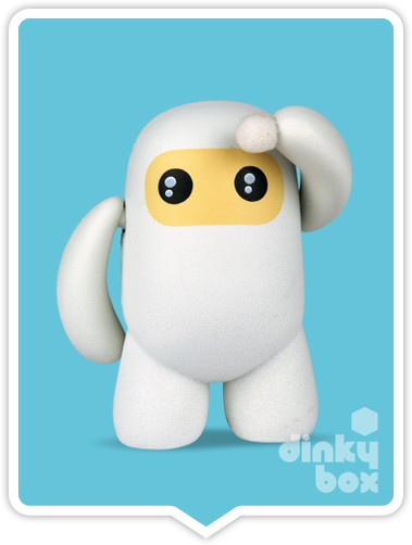 "OPEN BOX Kidrobot Shawnimals Ninjatown : 2"" White Ninja mini figure 2/25 (complete with all original packaging) - moosedinky"