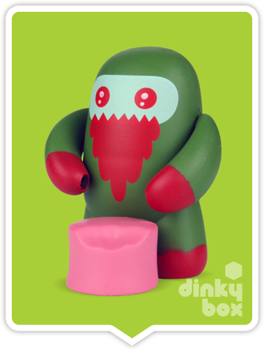 "OPEN BOX Kidrobot Shawnimals Ninjatown : 2"" Zombie Ninja CHASE mini figure 1/50 (complete with all original packaging) + FREE POSTAGE - moosedinky"