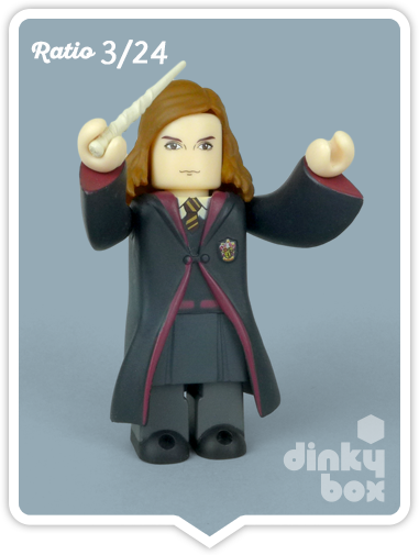 Hermione Granger mini figure collectable produced by Medicom Toys, Japan. Available to buy from dinkybox UK.