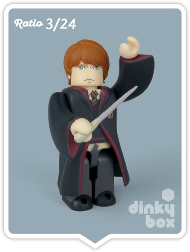Ron Weasley mini figure collectable produced by Medicom Toys, Japan. Available to buy from dinkybox UK.