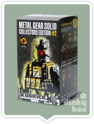 Kubrick Metal Gear Solid Packaging included with character. Opened for identification purposes only.