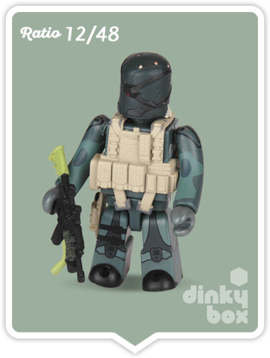 "Kubrick Metal Gear Solid open choice, pre-identified Old Snake 2.5"" mini figure available within the UK."