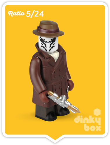 "OPEN BOX Medicom Kubrick DC Comics / Warner Bros. Watchmen : 2.5"" Rorschach mini figure 5/24 (complete with all original packaging) - moosedinky"