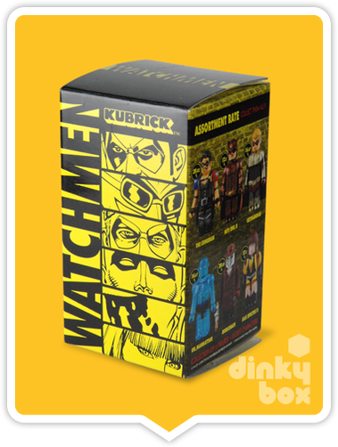 BLIND BOX : Medicom Kubrick DC Comics / Warner Bros. Watchmen Collectable Mini Figure - Just who will arrive at your UK home? 15yrs+ - moosedinky
