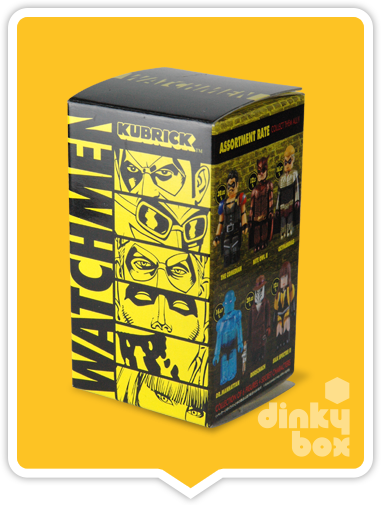 "OPEN BOX Medicom Kubrick DC Comics / Warner Bros. Watchmen : 2.5"" Dr. Manhattan mini figure 4/24 (complete with all original packaging) - moosedinky"