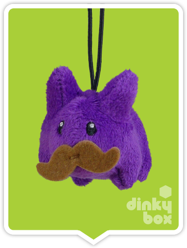 "WINDOW BOXED : Kidrobot x Frank Kozik  3"" Purple Crazy Labbit Plush - moosedinky"